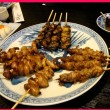 ウナギ串焼き、肝焼き、兜焼き
